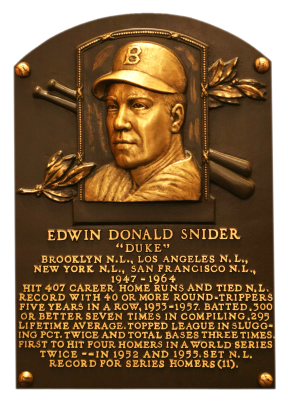 Duke Snider HOF plaque