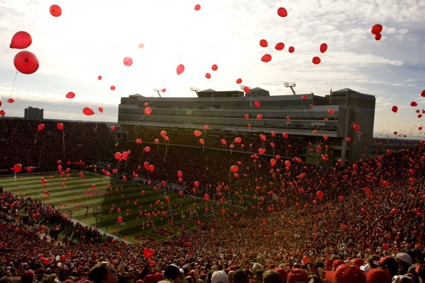Memorial Stadium balloons