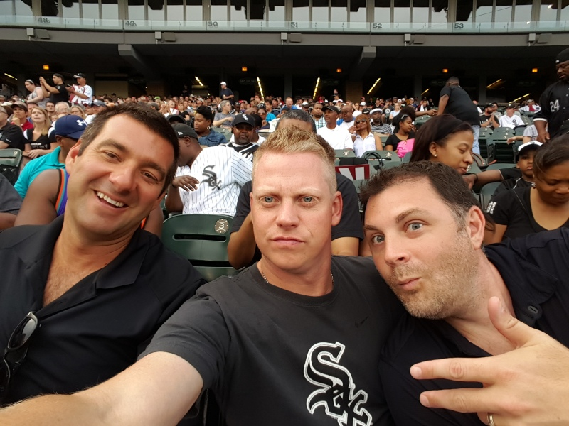Mike, Jeff, and I at Sox vs Blue Jays - July 1, 2015