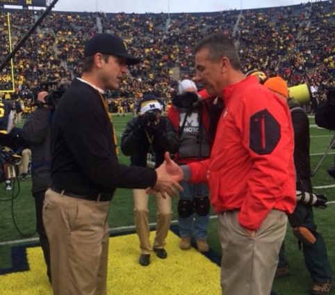 Harbaugh vs Meyer