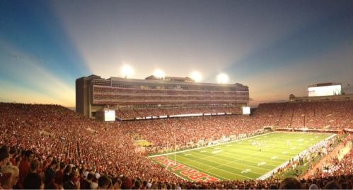 Memorial Stadium at sunset 1024 x 552