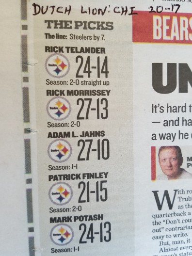 Chicago Sun-Times Bears-Steelers picks