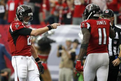 Matt Ryan and Julio Jones