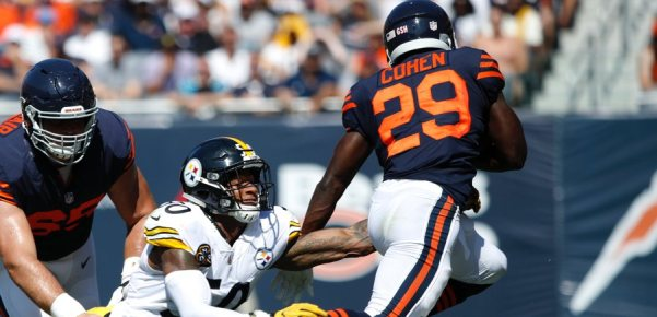 Tarik Cohen vs Steelers