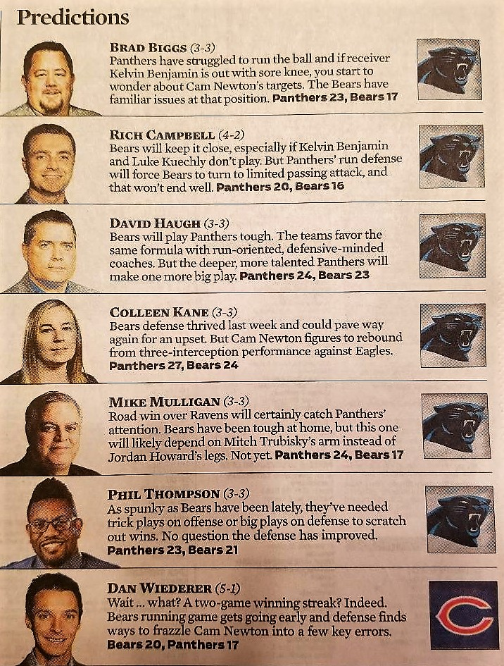 Chicago Tribune Bears-Panthers predictions2