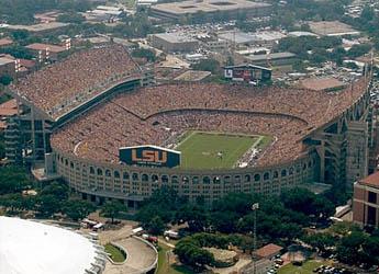 Tiger Stadium Aerial