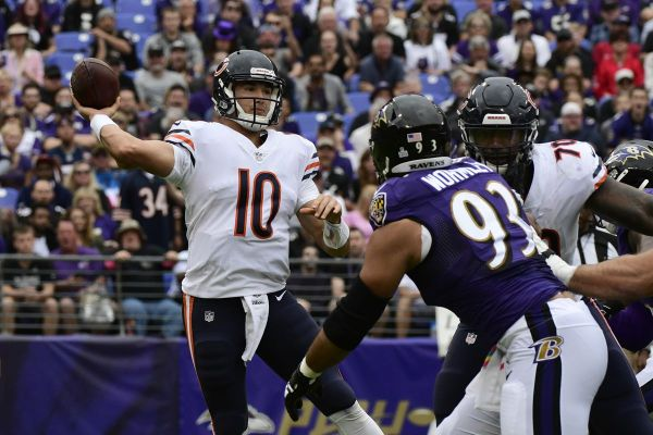 Mitch Trubisky at Ravens2