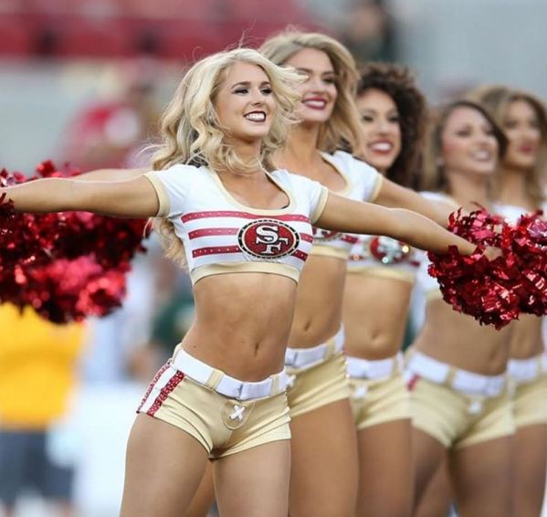 49ers Gold Rush cheerleaders
