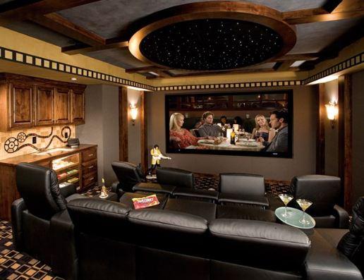 Gary's lavish TV room