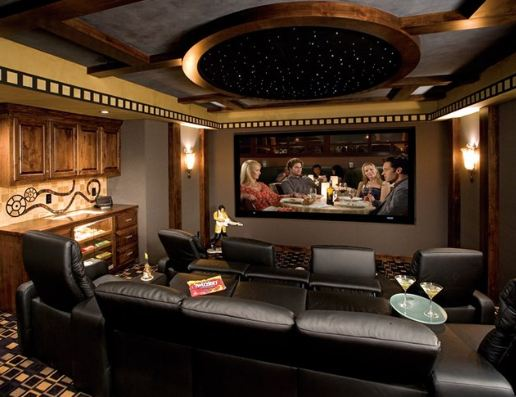 Gary's lavish TV room