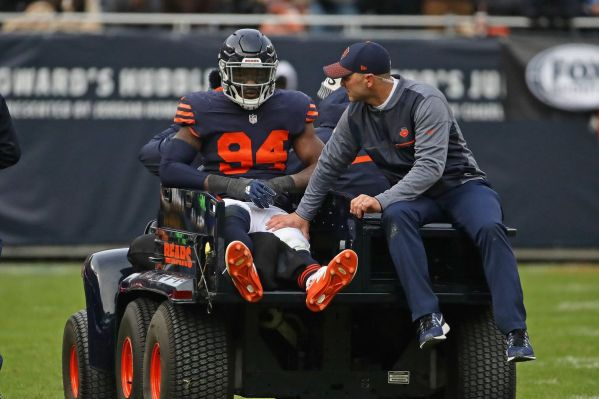 Leonard Floyd getting carted off vs Lions