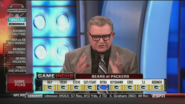 Mike Ditka picks Bears over Packers