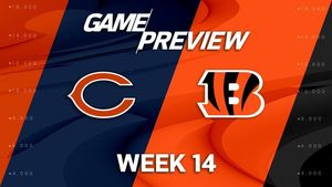 Bears at Bengals week 14 logos