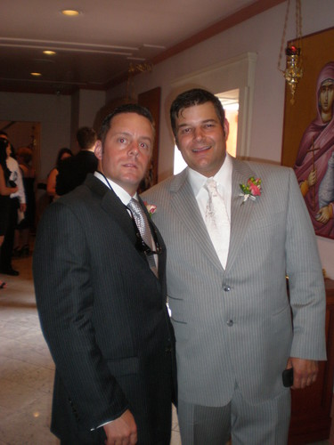 Brad Bush and Todd McKinley at Brad's Wedding