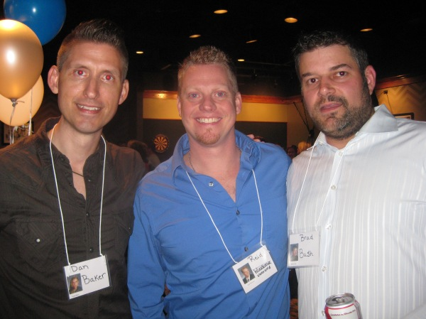 Brad Bush, Dan Baker, and Reid at the LZHS 20th Reunion