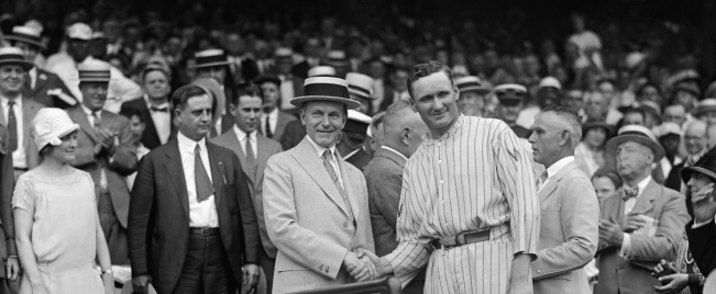 1924 Washington Senators Walter Johnson and Calvin Coolidge.jpg