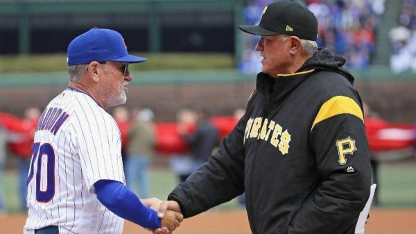 Joe Maddon and Clint Hurdle