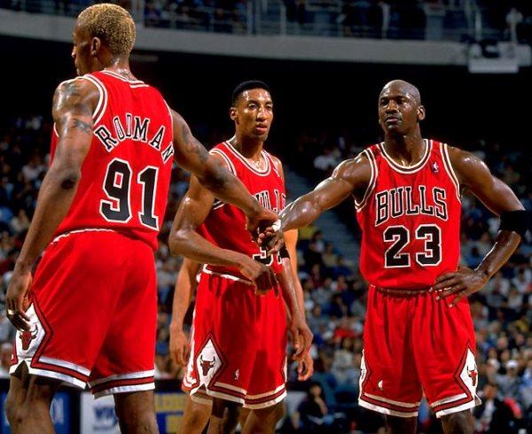 1996 Bulls Jordan, Pippen, Rodman
