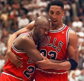 Jordan and Pippen The Flu Game