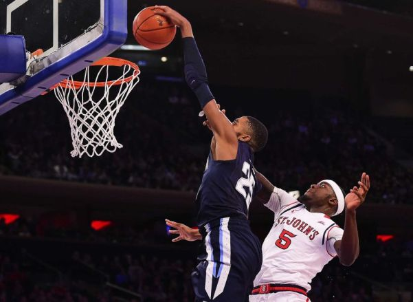 Mikal Bridges dunking lefty