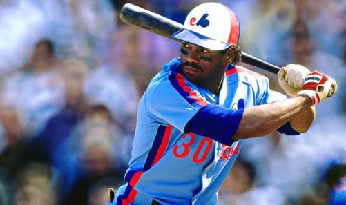 Montreal Expos powder blue Tim Raines