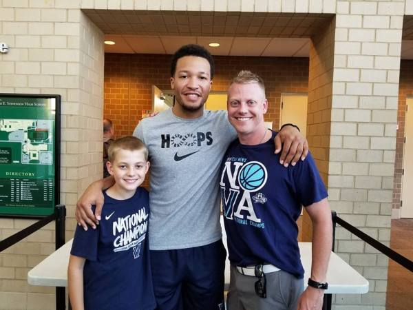Trev, Jalen Brunson, and me