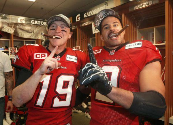 Calgary Stampeders celebrating2