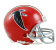 Falcons red helmet