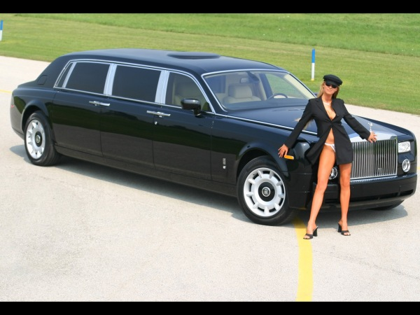 Rolls Royce limo with female chauffeur