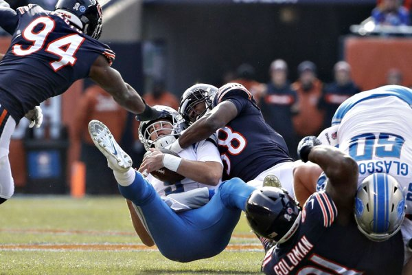Roquan Smith sacking Matt Stafford