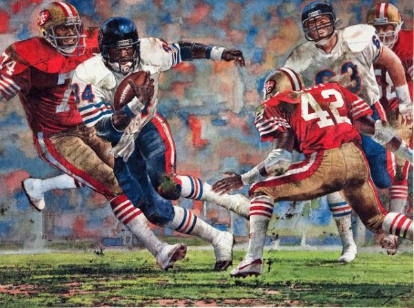Bears at 49ers painting