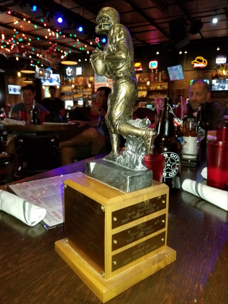 Butkus Bowl Trophy at 2018 Butkus Draft2