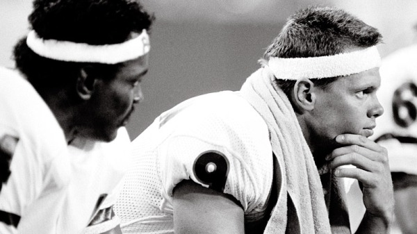 Jim McMahon and Walter Payton at Vikings 1985
