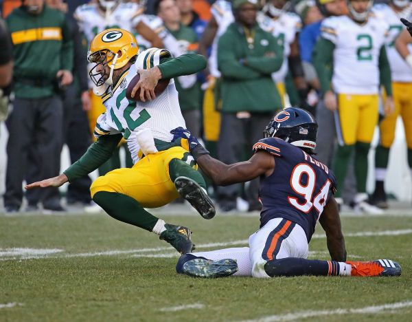 Leonard Floyd throwing Rodgers down like a rag doll 2018