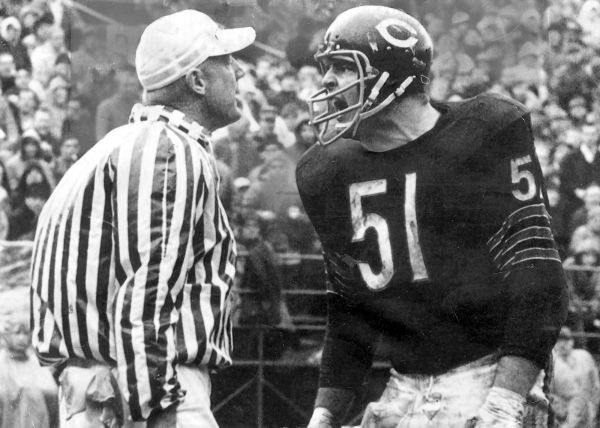 Dick Butkus yelling at referee
