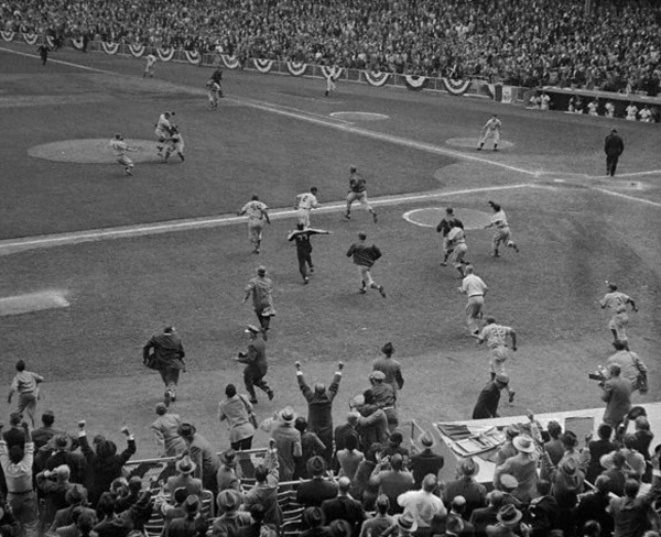 1955 World Series final out