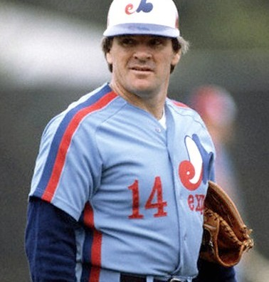 ca. March, 1984 --- Montreal Expos Pete Rose gives a reproachful look from the playing field. Rose played on three championship teams during only six years of his baseball career. --- Image by © Bettmann/CORBIS