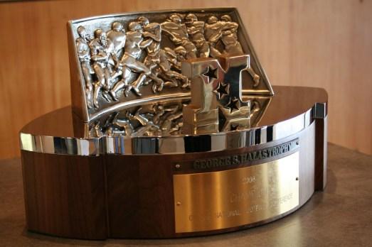 The original George Halas NFC Championship Trophy